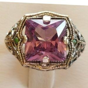 Jewelry - 4ct Alexandrite/Green Fire Opal Ring Size 6